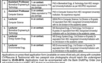 NFC Institute of Engineering andTechnology Jobs