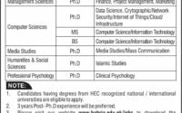 Bahria University Islamabad Jobs