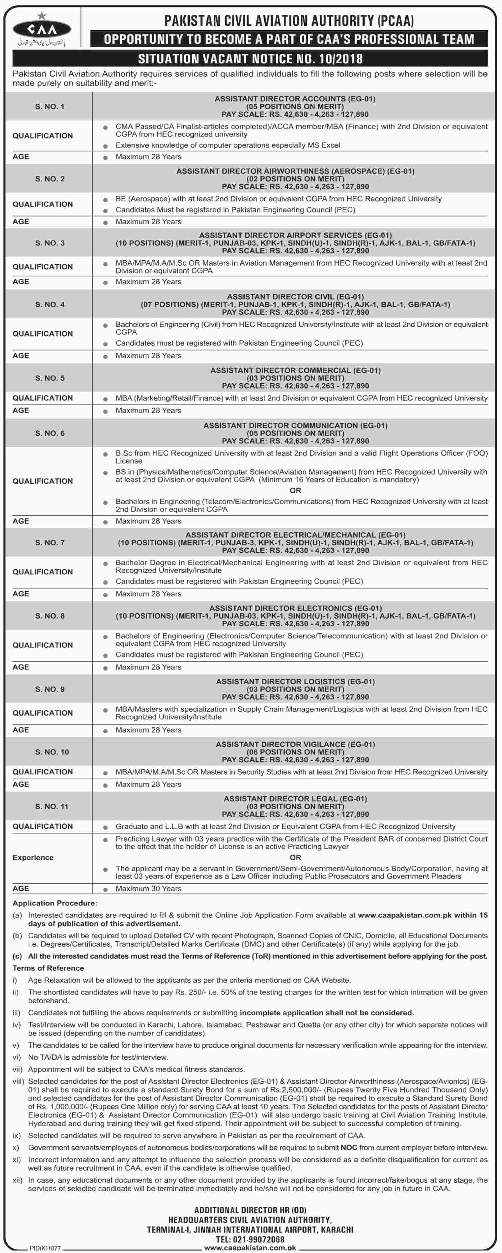 Civil Aviation Authority Job Opportunities Notice No 10