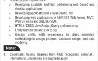 Bahria University Head Office Software Developer Required