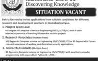 Bahria University Jobs 2019