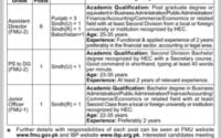 FMU Financial Monitoring Unit Jobs 2019 Government of Pakistan