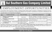Sui Southern Gas Company Jobs 2019
