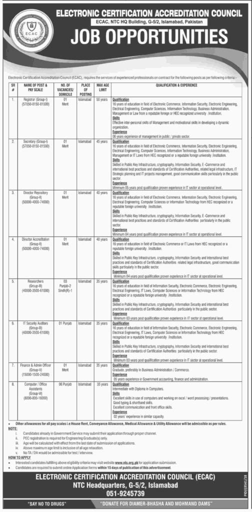 Electronic Certification Accreditation Council ECAC Jobs 2019 a