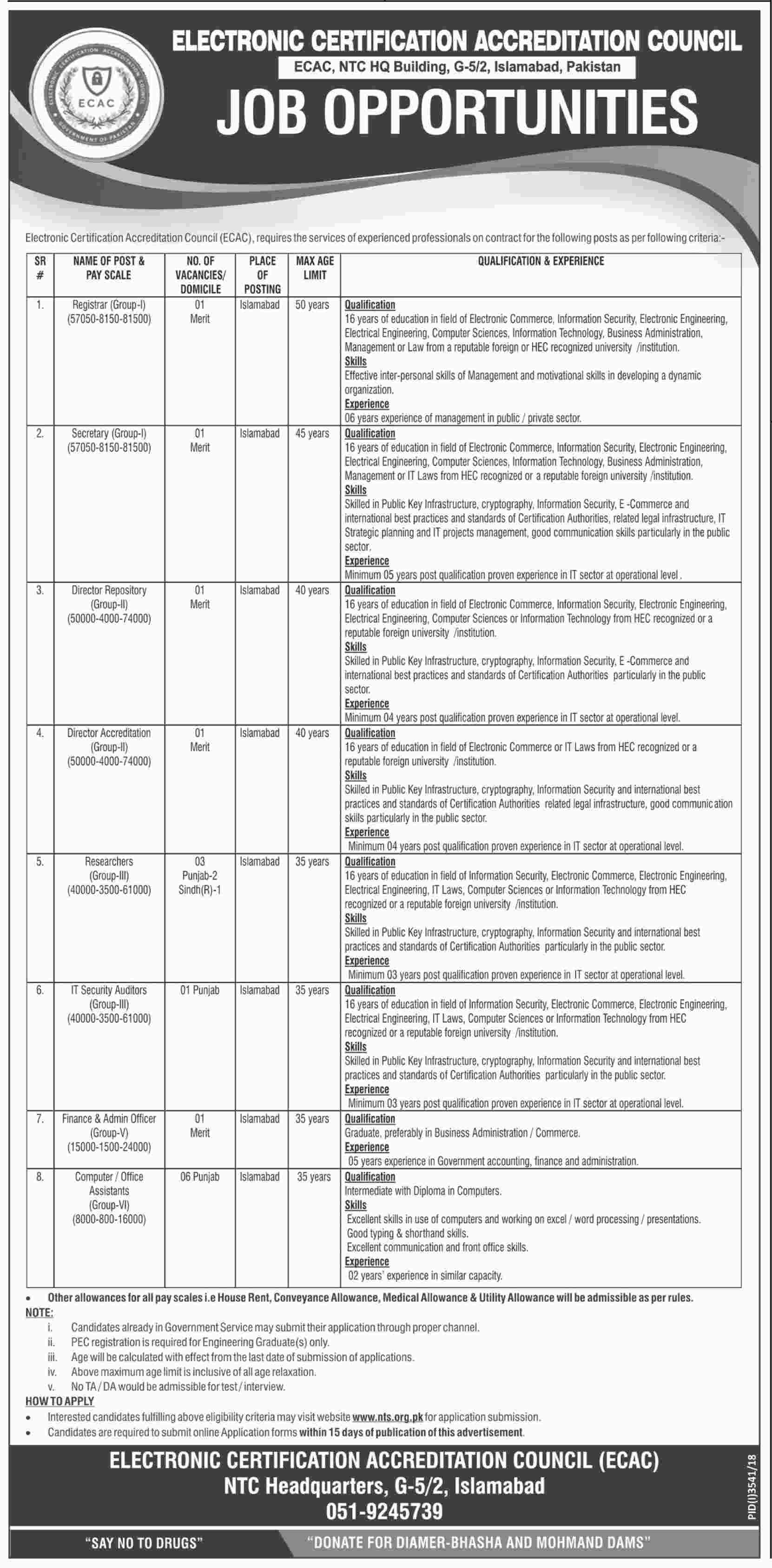 Electronic Certification Accreditation Council ECAC Jobs 2019