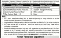 National Logistics Cell NLC New Jobs 2019 with Application Form