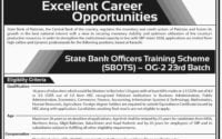 State Bank of Pakistan SBP Jobs 2019 Officers Training Scheme SBOTS OG 2 Batch 23