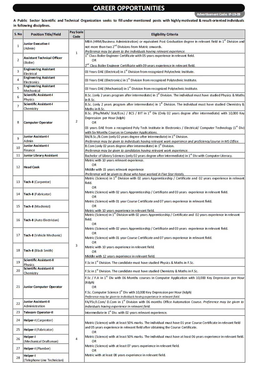 PO Box 1384 KRL Jobs 2019 Apply Online