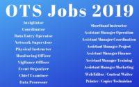 OTS Jobs 2019 Apply Online www.ots.org.pk