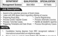 Bahria University Islamabad Latest Jobs 2019 Multiple Positions a