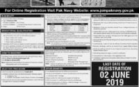 Join Pak Navy Jobs 2019 Online Registration Permanent Commission as PN Cadet in Term 2019-B
