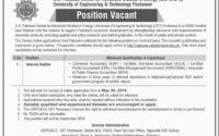 US Pakistan Center for Advanced Studies in Energy USPCASE UET Peshawar Jobs 2019