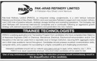 Pak Arab Refinery Limited PARCO Trainee Technologists Jobs 2019 www.parco.com.pk Apply Online