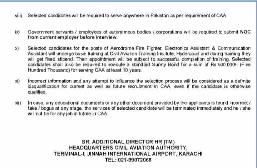 Pakistan Civil Aviation Authority Jobs 2019 CAA Notice No 11 2019 Apply Online 3