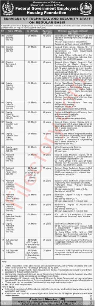 Federal Government Employees Housing Foundation Jobs 2019 NTS