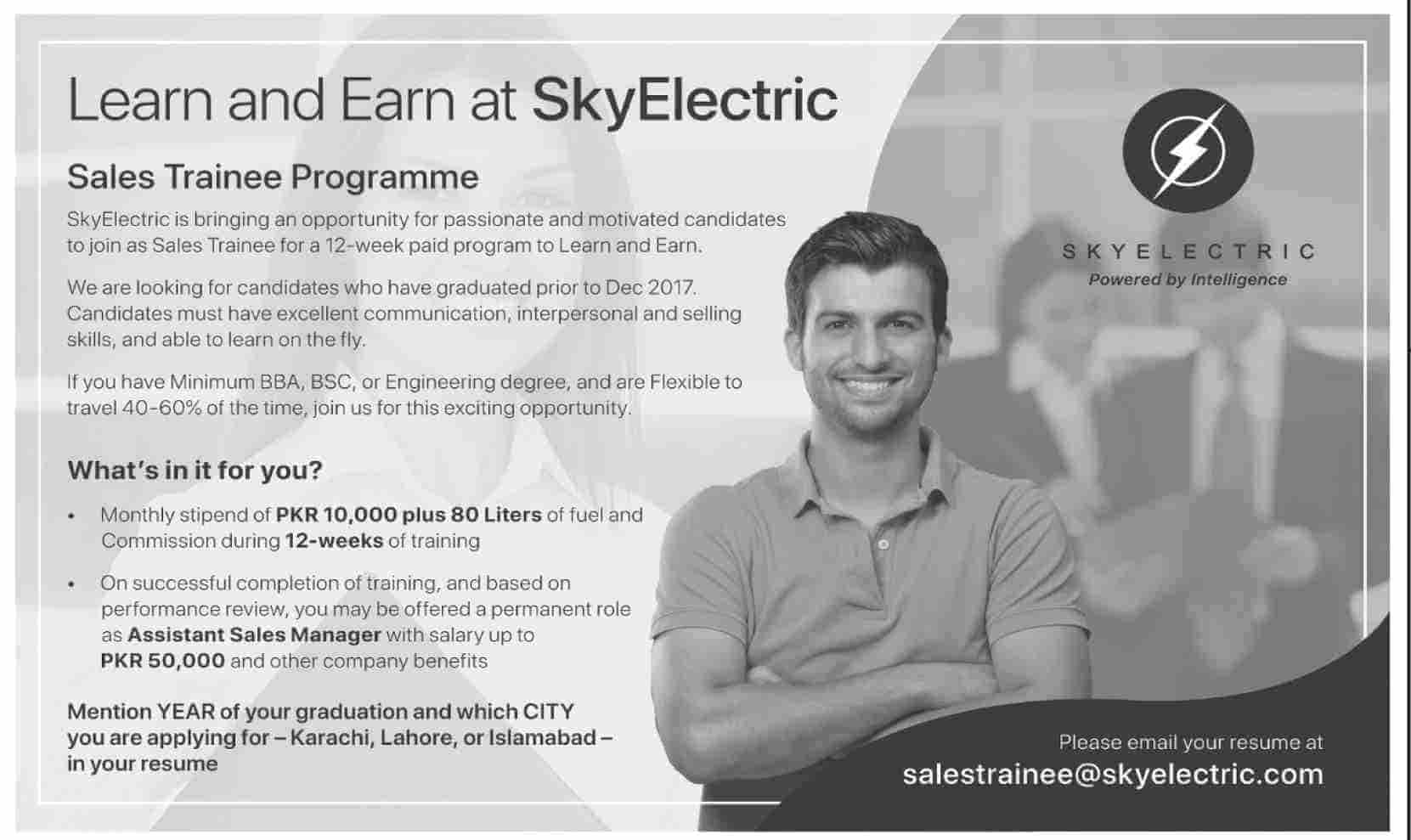 SkyElectric Sales Trainee Programme Jobs 2019 Latest Apply Online