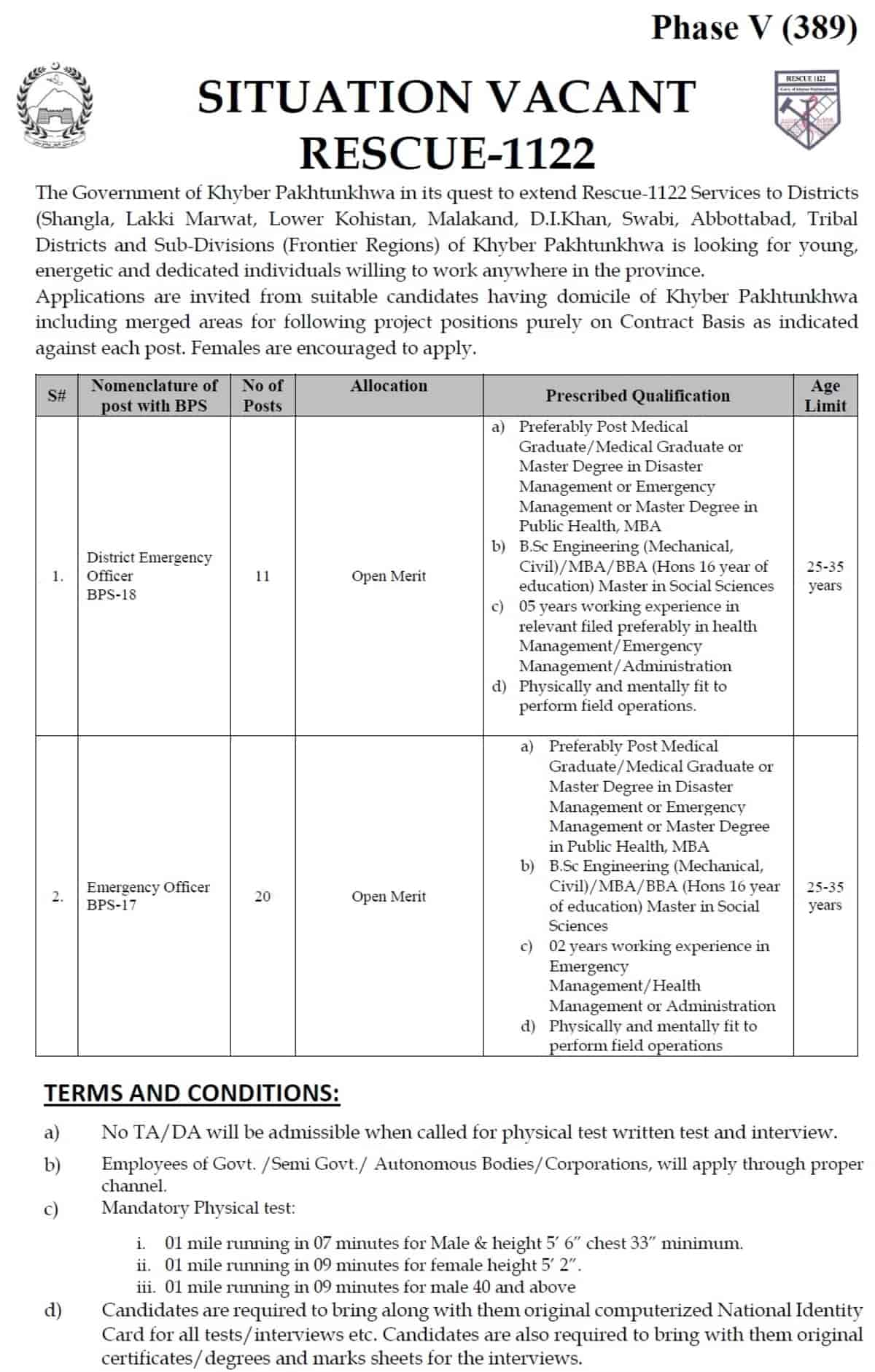 Rescue 1122 KPK Jobs 2020 PTS Application Form Phase 5 a