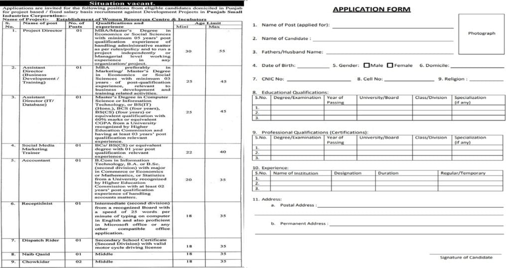 Featured Image PO Box 829 Punjab Small Industries Corporation PSIC Jobs 2020 Latest