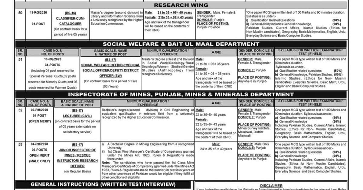 PPSC Jobs February 2020 Advertisement No 6 Apply Online Latest