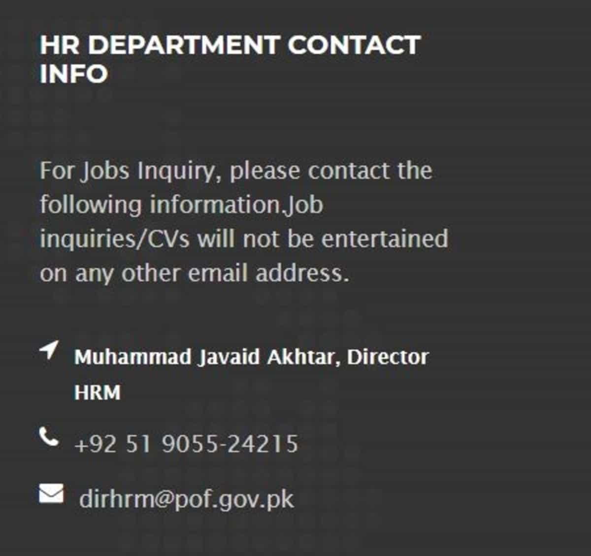 Pakistan Ordnance Factories POF Wah Cantt Jobs 2020 Artisan Training Scheme www.pof.gov.pk Apply Online 2