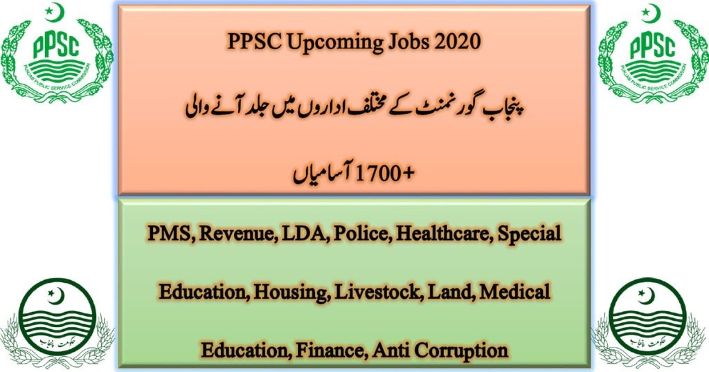 Featured Image Punjab Public Service Commission PPSC Upcoming Jobs 2020 Latest