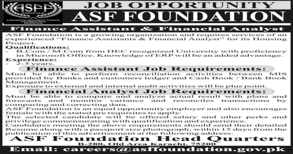 Featured Image Airports Security Force ASF Foundation Jobs 2020 in Housing Project Latest