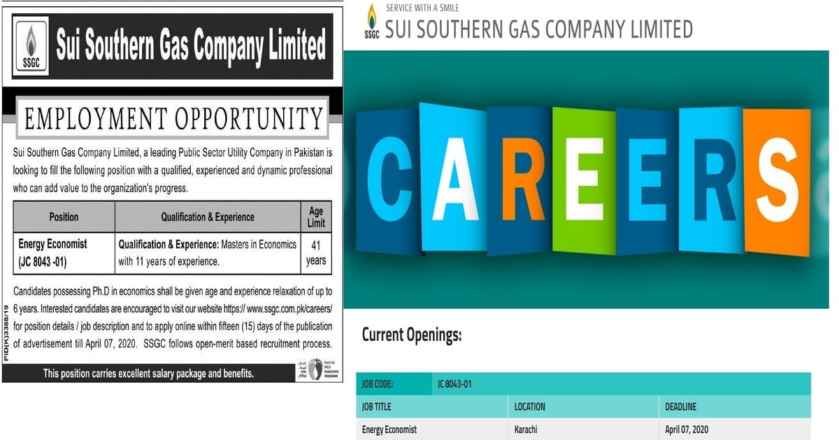 Featured Image Sui Southern Gas Company Limited SSGC Jobs 2020 Apply Online Latest