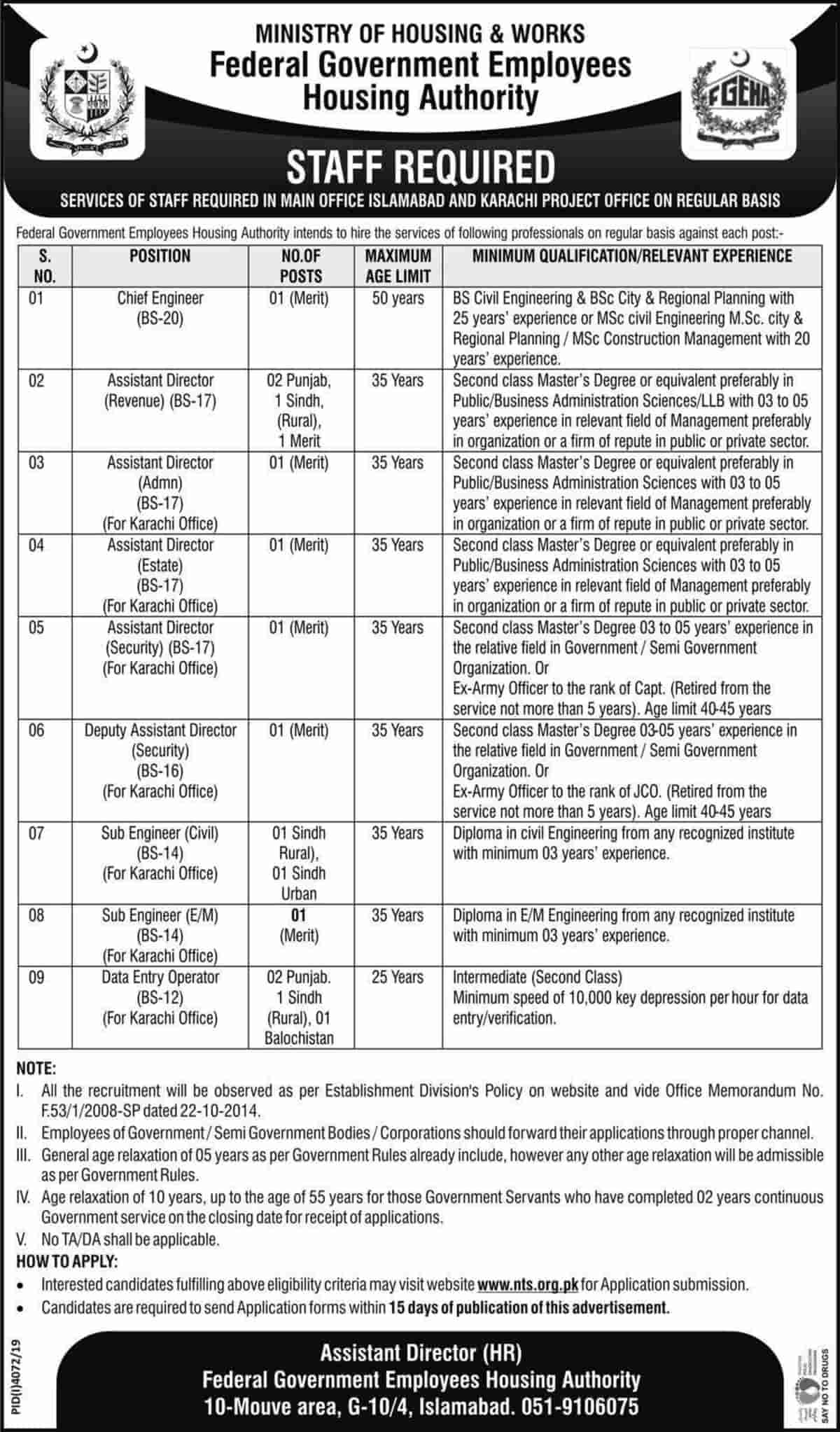 Federal Government Employees Housing Authority FGEHA Jobs April 2020 1