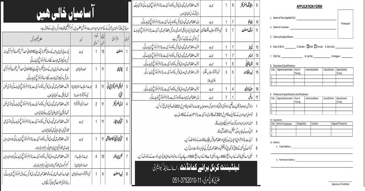 Featured Image Pakistan Army Military College Murree Jobs 2021 Application Form